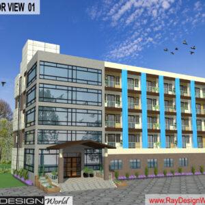Mr.Vivek Gupta - Gwalior M.P- Hotel-3d Exterior View-01