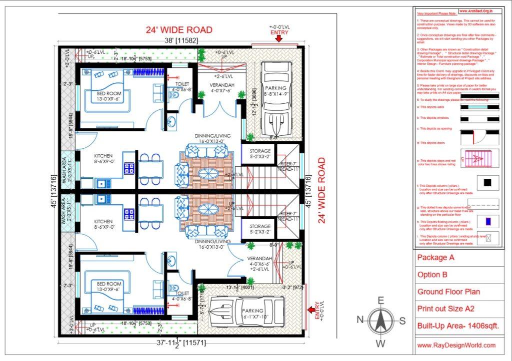 Capten Arul -Vengambakkam Chennai -Bungalow-Ground Floor Plan