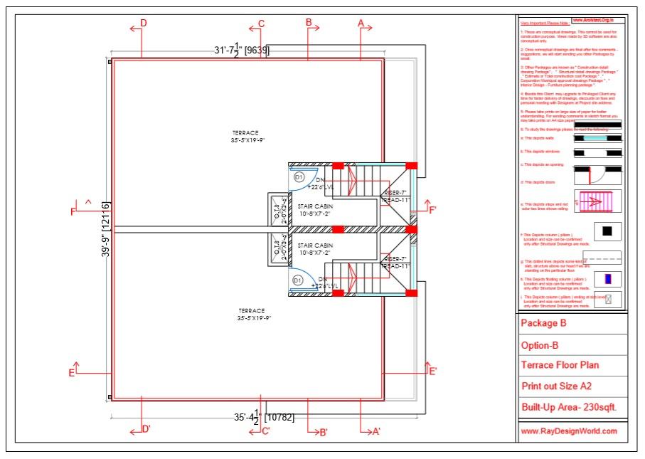Capten Arul - Chennai Tamil Nadu -Bungalow- Option B - Terrace Floor Plan