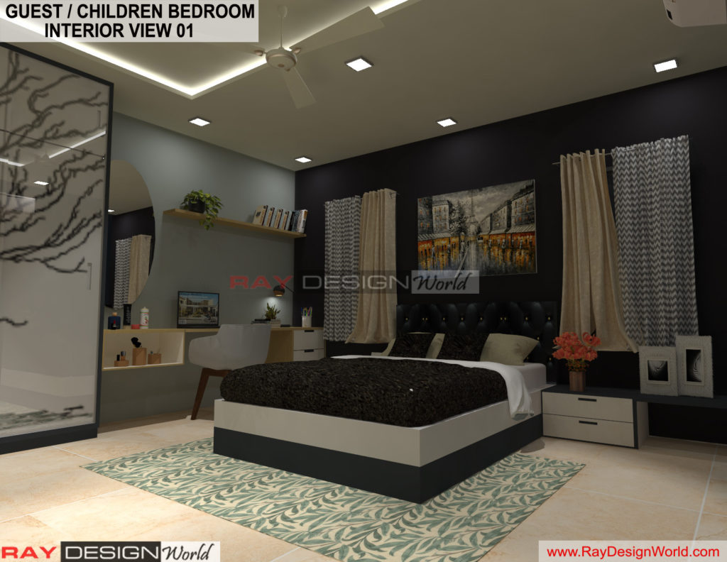 Capten Arul-Madipakkam chennai-Guest And Children Bedroom Interior View-01