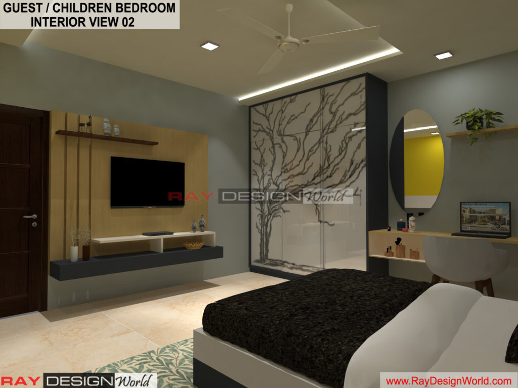 Capten Arul-Madipakkam chennai-Guest And Children Bedroom Interior View-02