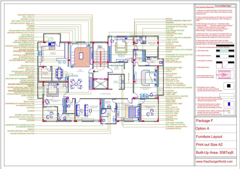 Capten Arul-Madipakkam chennai-House Interior Layout-Option-A