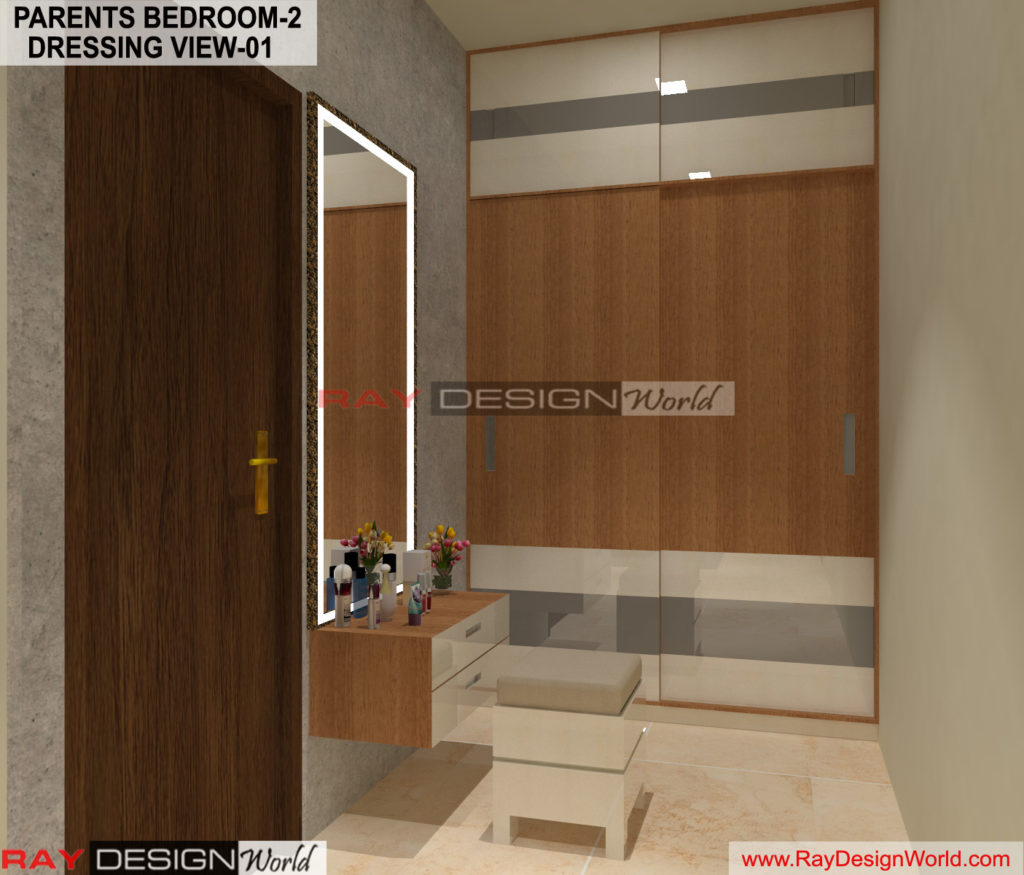 Capten Arul-Madipakkam chennai-Parents Bedroom-2-Dressing View-01