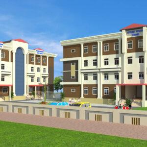 Dr.Abdullah Sabir-Uttar dinajpur WB-School-3d Exterior View-01