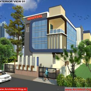 Dr.Anil Gupta-Alwar Rajasthan-Hospital-3D Exterior View-01