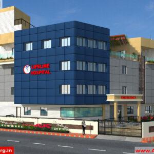 Dr.Ashish- Bhilwara Rajasthan- Hospital-3d Exterior View-01