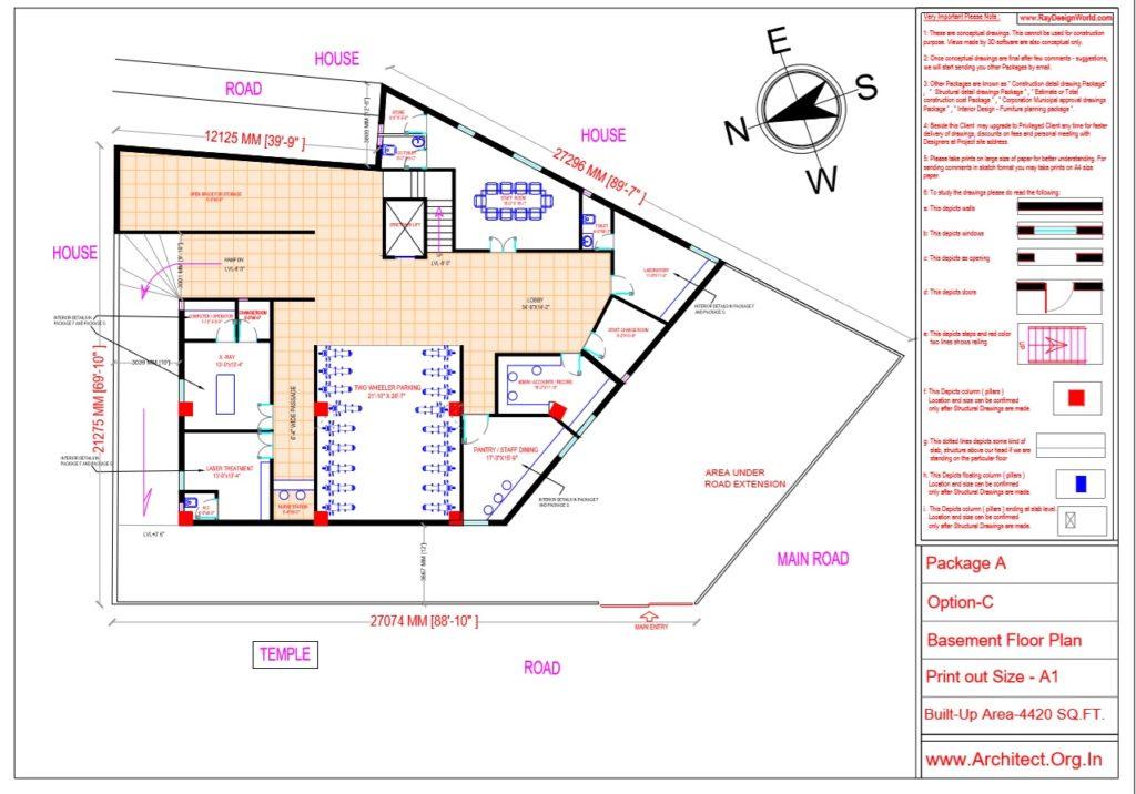 Dr.Ashish- Bhilwara Rajasthan- Hospital-Basement Floor Plan