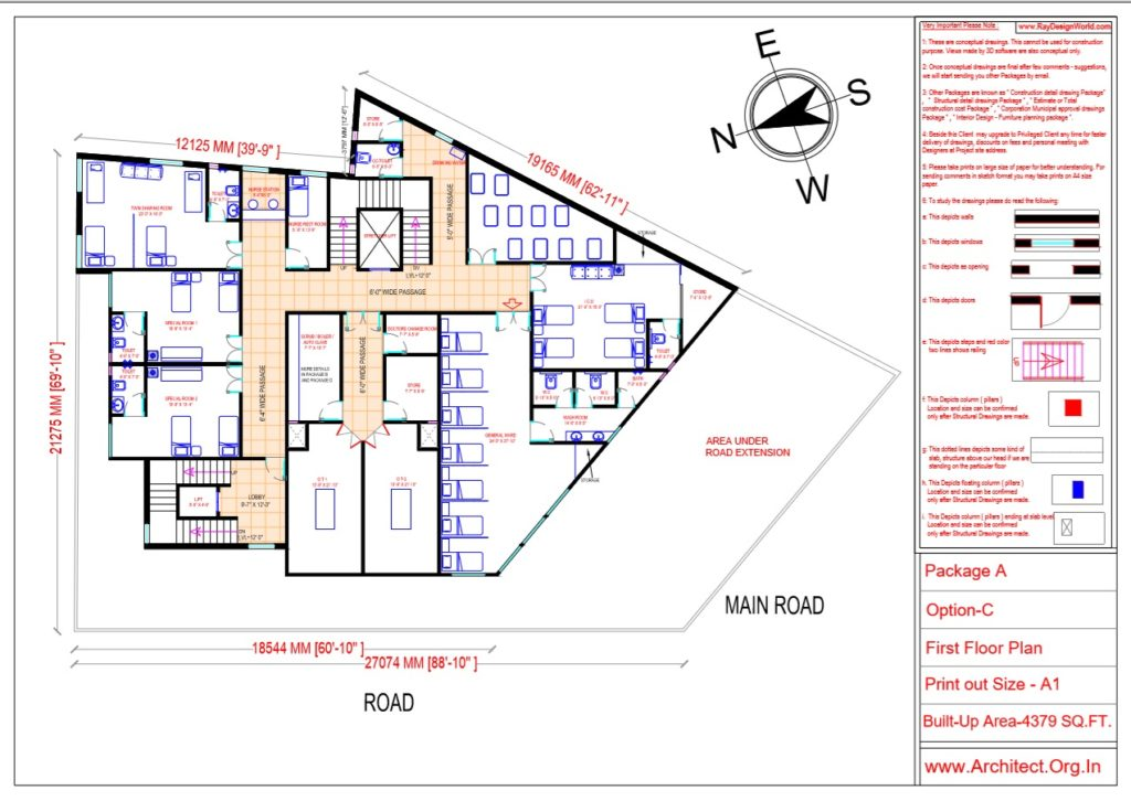 Dr.Ashish- Bhilwara Rajasthan- Hospital-First Floor Plan