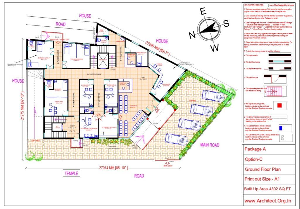 Dr.Ashish- Bhilwara Rajasthan- Hospital-Ground Floor Plan