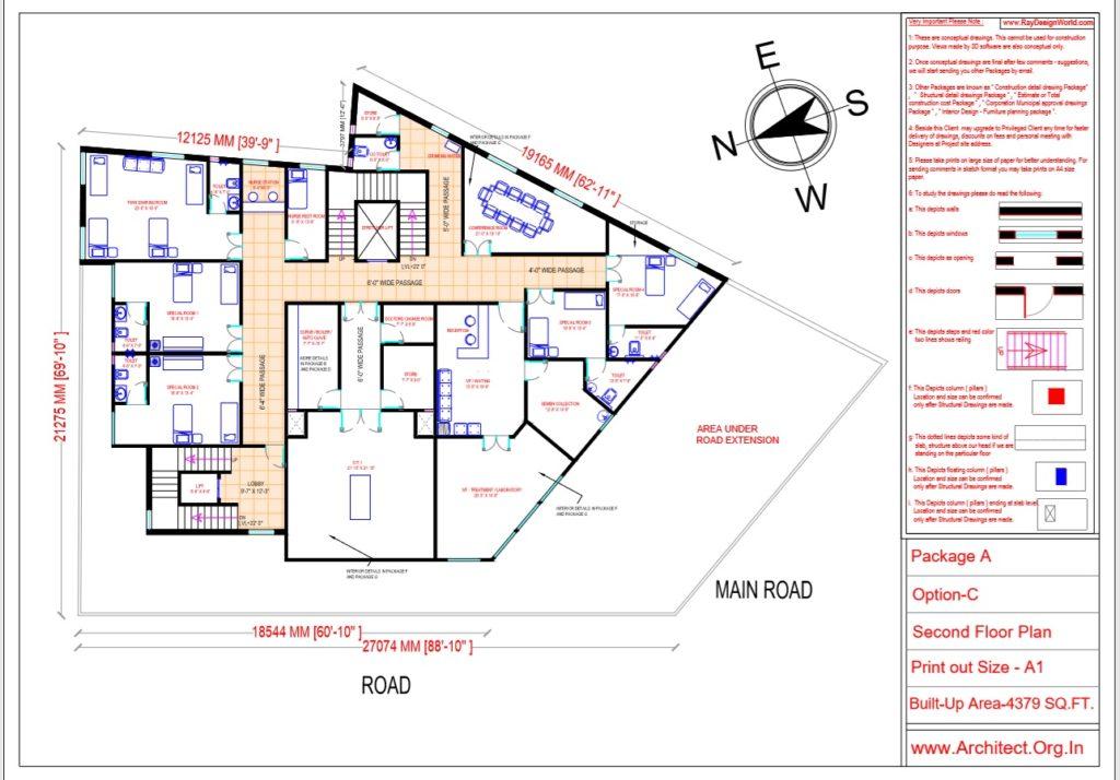 Dr.Ashish- Bhilwara Rajasthan- Hospital-Second Floor Plan