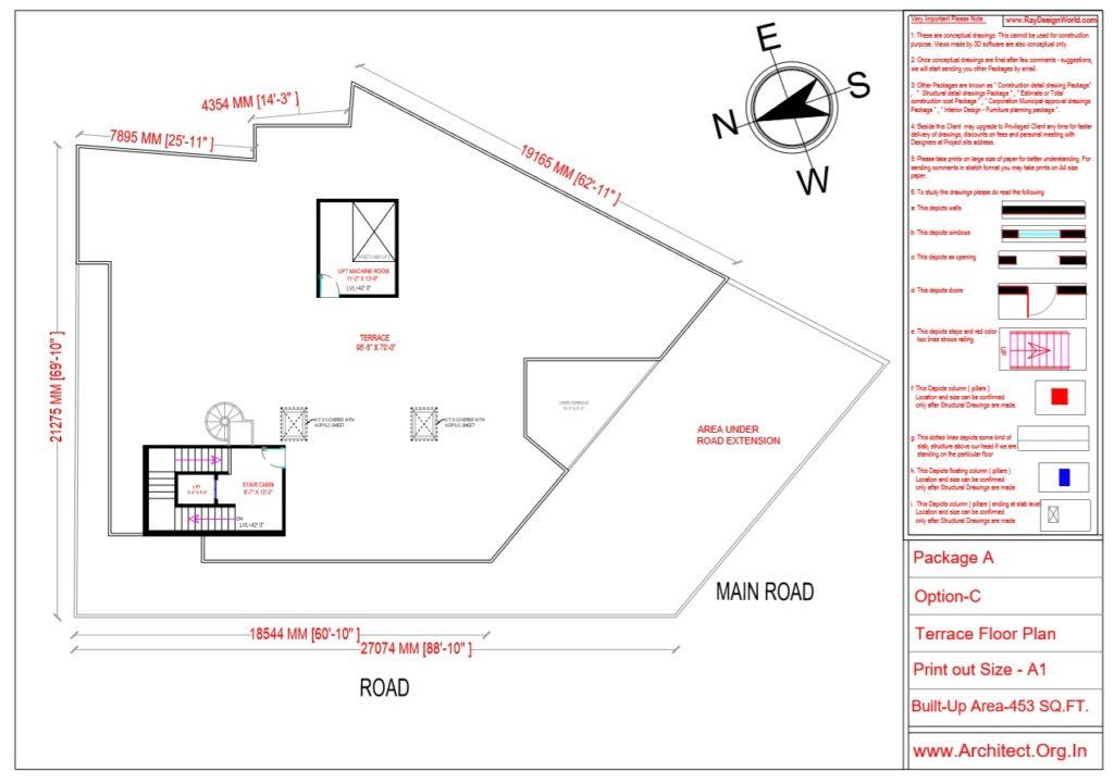 Dr.Ashish- Bhilwara Rajasthan- Hospital-Terrace Floor Plan