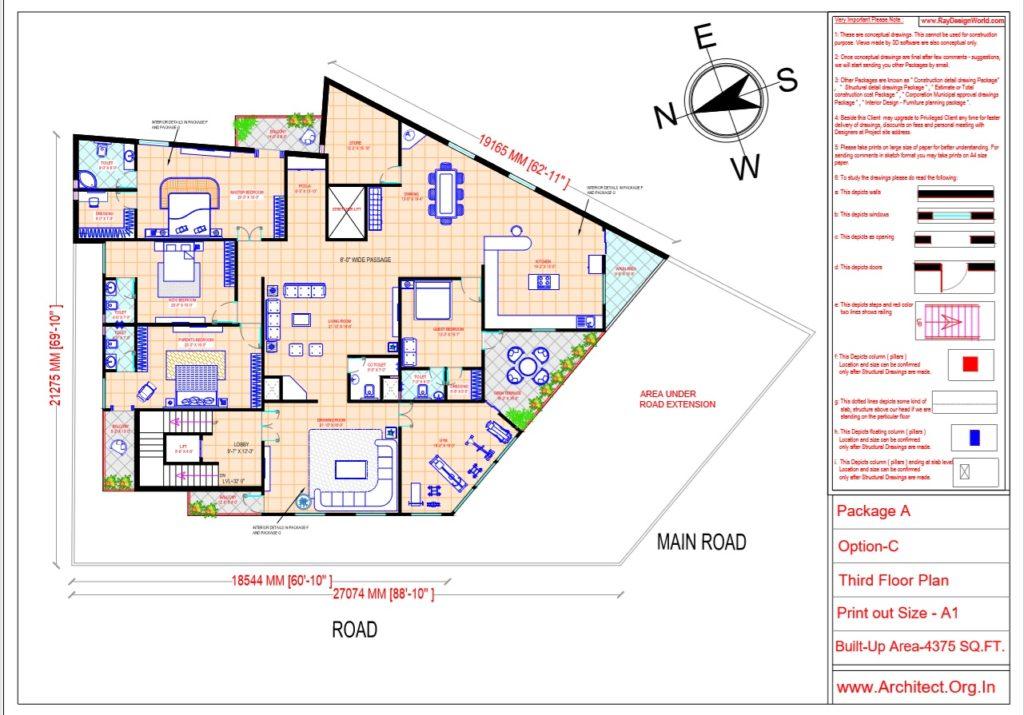 Dr.Ashish- Bhilwara Rajasthan- Hospital-Third Floor Plan