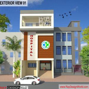 Dr.Azmat-Jaunpur Uttar Pradesh-Hospital-3D Exterior View-01