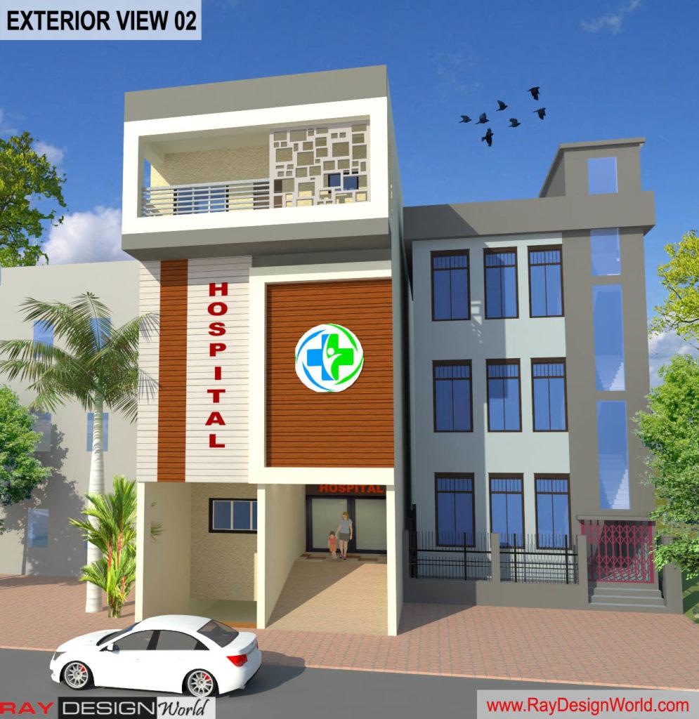 Dr.Azmat-Jaunpur Uttar Pradesh-Hospital-3D Exterior View-02