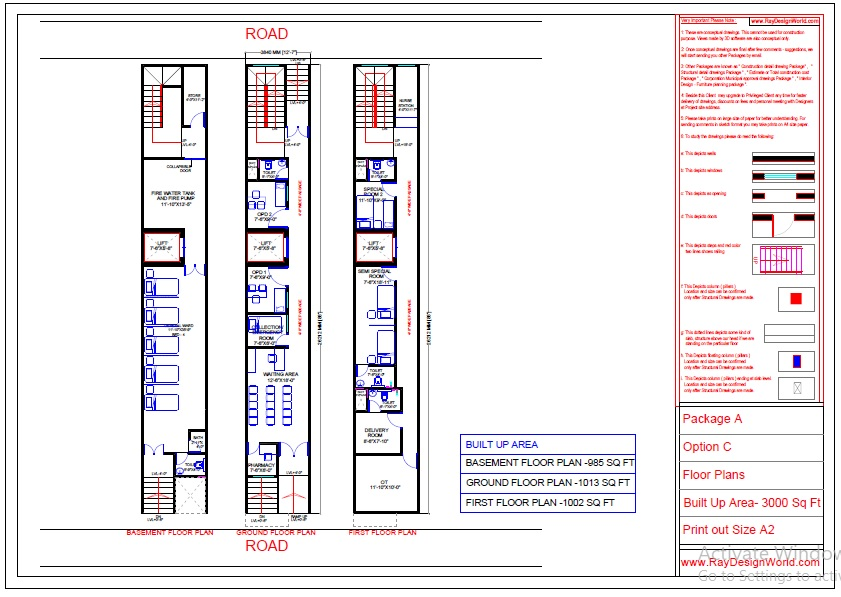 Dr.Azmat-Jaunpur Uttar Pradesh-Hospital-Basement To First Floor Plan