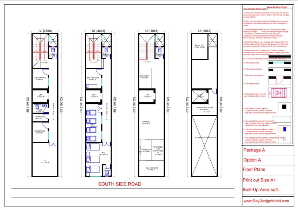 Dr.Prabhakar-Delhi -Hospital-Fourth Floor To Top Floor plans