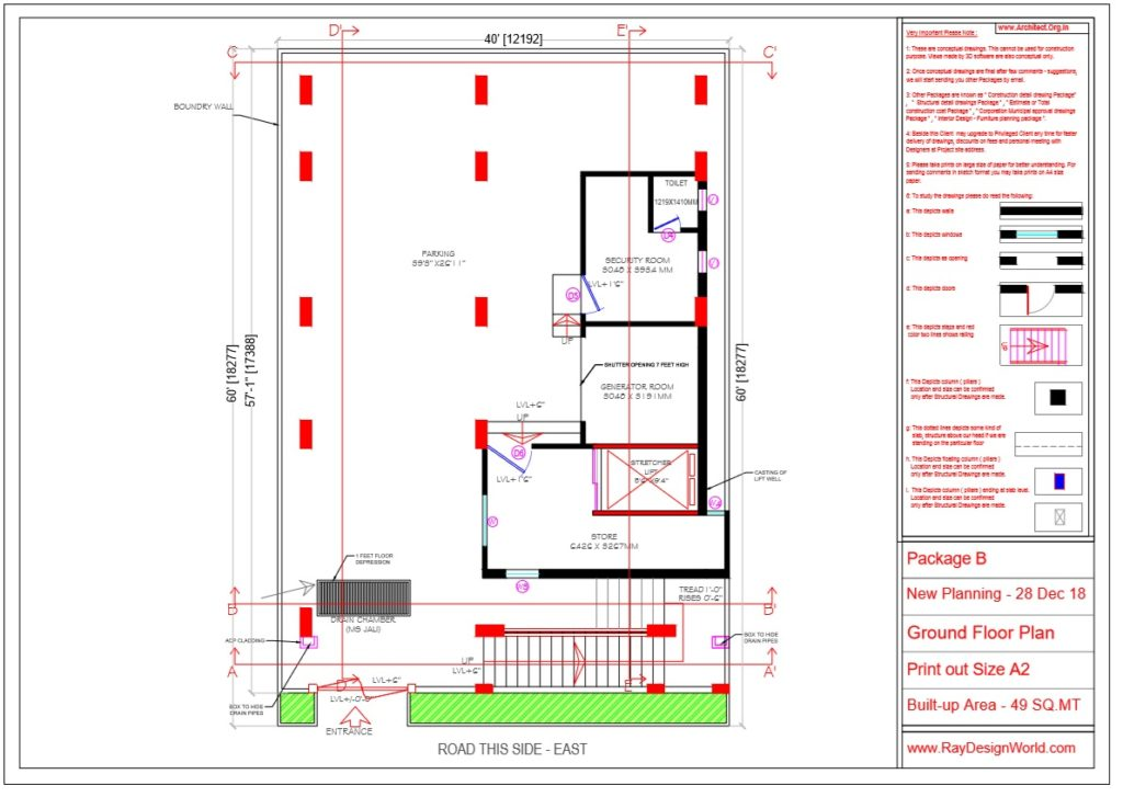 Dr.Rajeev Pandurangi- Bangalore-Hospital - Ground Floor Plan