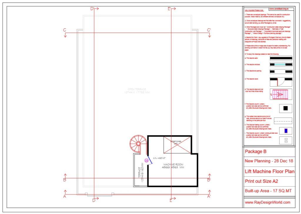 Dr.Rajeev Pandurangi- Bangalore-Hospital - Lift Machine Floor Plan