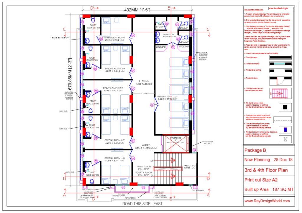 Dr.Rajeev Pandurangi- Bangalore-Hospital - Third & Fourth Floor Plan