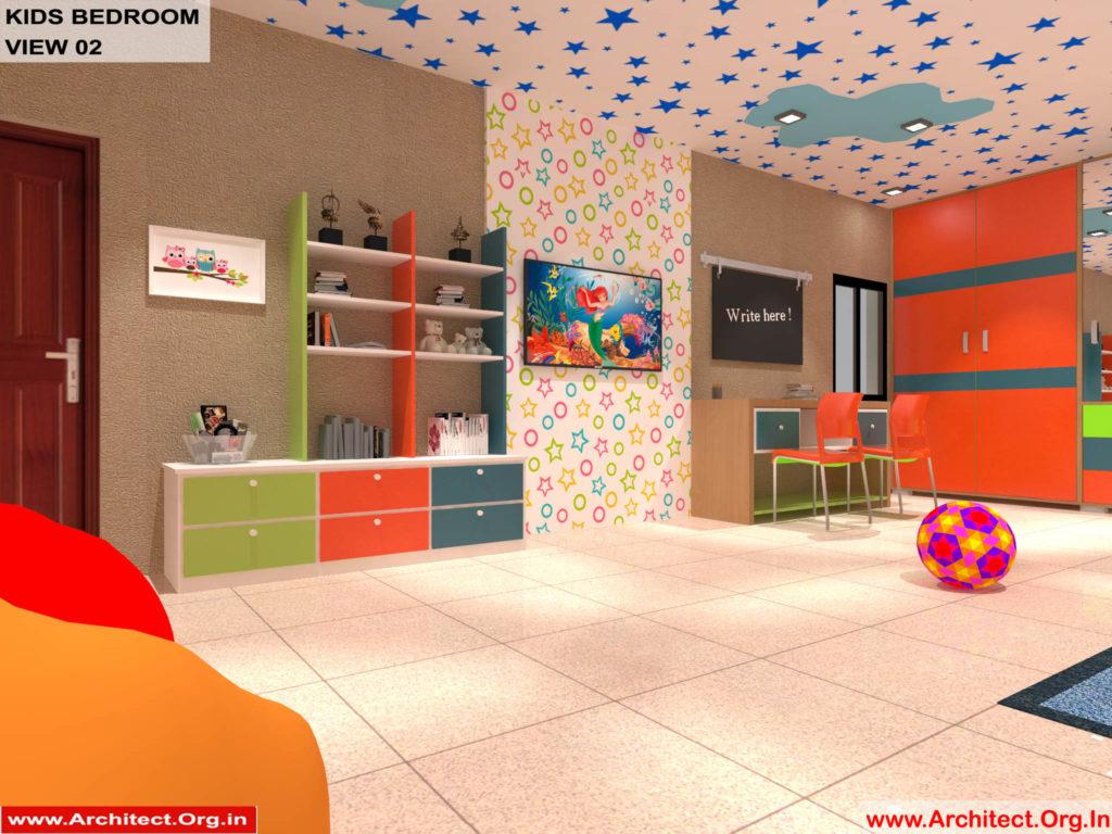 Dr.Sandeep Ada-Naidupet Andhra Pradesh-House interior-Kids Bedroom View-02