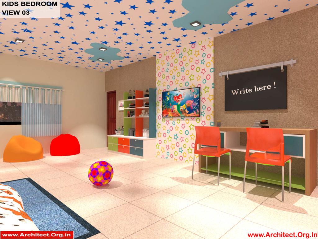 Dr.Sandeep Ada-Naidupet Andhra Pradesh-House interior-Kids Bedroom View-03