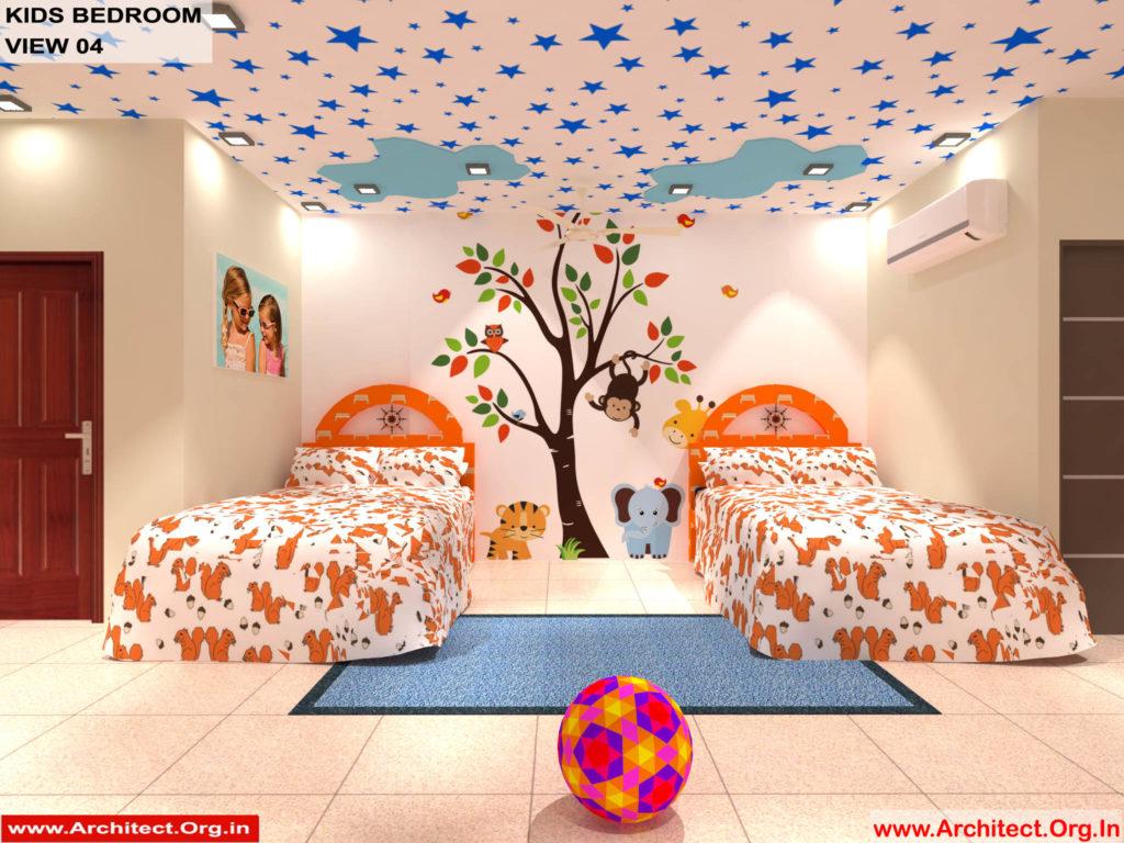 Dr.Sandeep Ada-Naidupet Andhra-Pradesh-House interior-Kids Bedroom View-04
