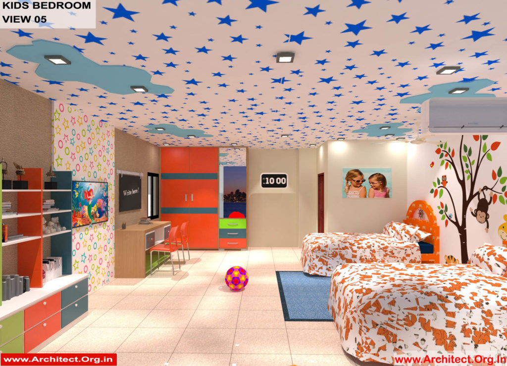 Dr.Sandeep Ada-Naidupet-Andhra Pradesh-House interior-Kids Bedroom View-05
