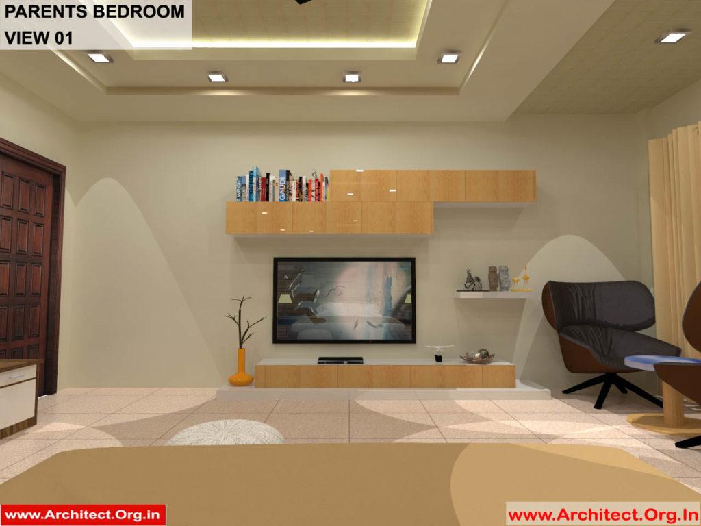 Dr.Sandeep Ada-Naidupet Andhra Pradesh-House interior-Parents Bedroom-View-01