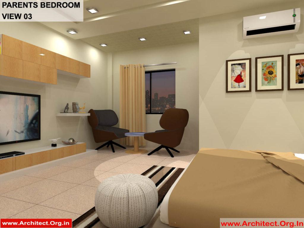 Dr.Sandeep Ada-Naidupet Andhra Pradesh-House interior-Parents Bedroom-View-03