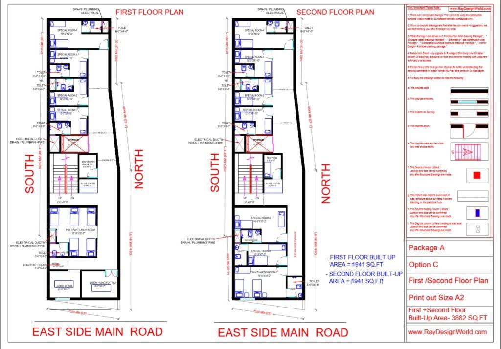 Dr.Talat Fatima - Darbhanga Bihar - Hospital-First & Second Floor Plan