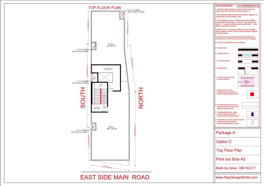 Dr.Talat Fatima - Darbhanga Bihar - Hospital-Terrace Floor Plan