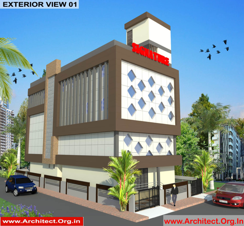 Mr.Abhishek Singh-Indranagar Lucknow UP-Commercial Complex-3D Exterior view-01