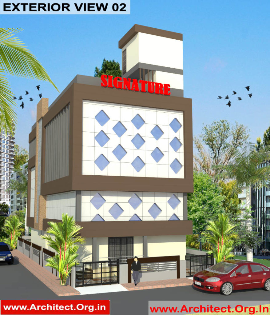 Mr.Abhishek Singh-Indranagar Lucknow UP-Commercial Complex-3D Exterior view-02