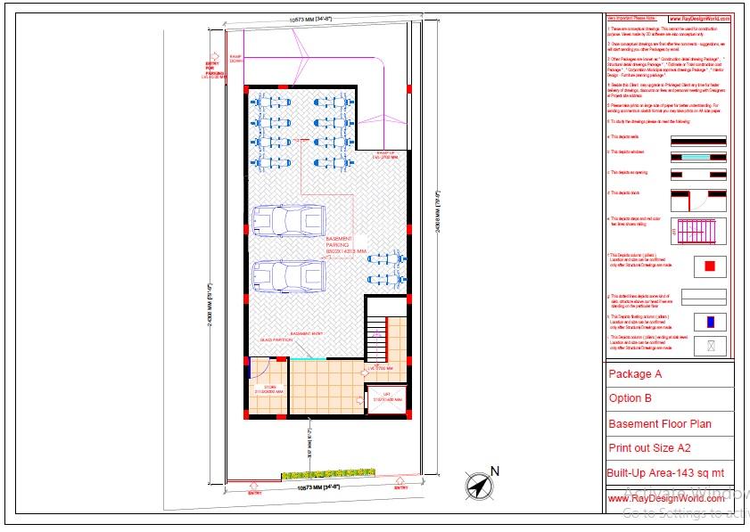 Mr.Abhishek Singh-Indranagar Lucknow UP-Commercial Complex-Basement Floor Plan