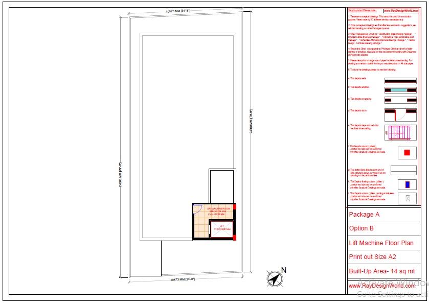 Mr.Abhishek Singh-Indranagar Lucknow UP-Commercial Complex-Lift Machine Floor Plan