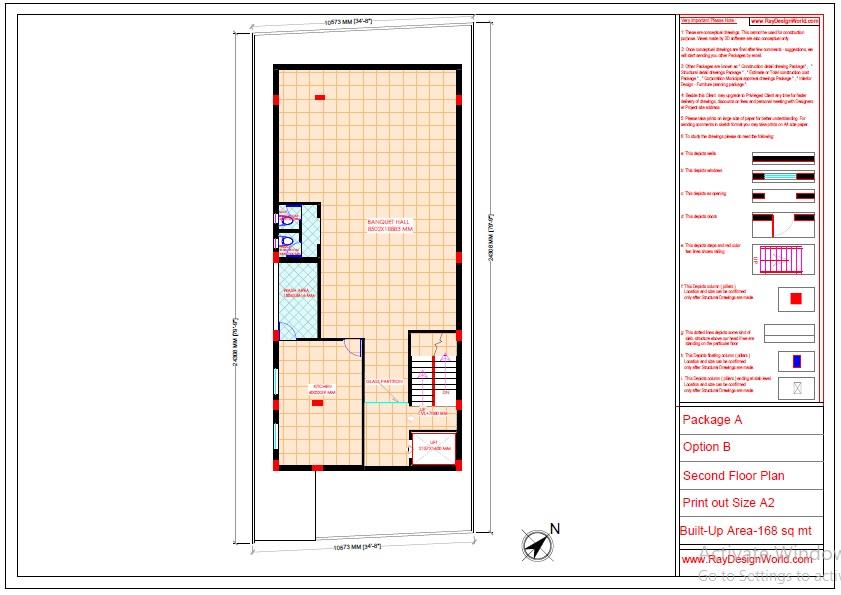 Mr.Abhishek Singh-Indranagar Lucknow UP-Commercial Complex-Second Floor Plan