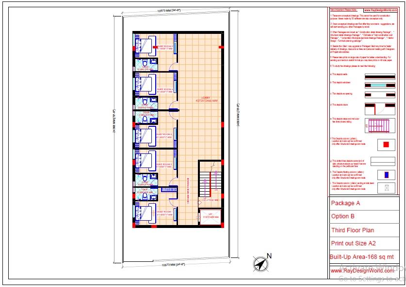Mr.Abhishek Singh-Indranagar Lucknow UP-Commercial Complex-Third Floor Plan