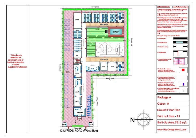 Mr. Ajay Kumar- Indarpur U.P-School- Ground Floor Plan
