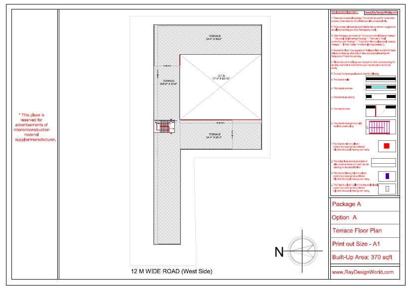 Mr. Ajay Kumar- Indarpur U.P-School- Terrace Floor Plan
