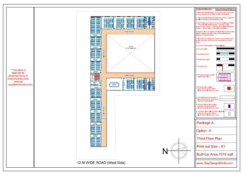 Mr. Ajay Kumar- Indarpur U.P-School- Third Floor Plan