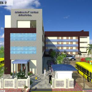 Mr. Ajay Kumar- Indarpur U.P-School exterior View-1