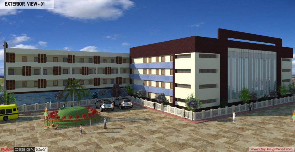 Mr. Ajay Kumar- Indarpur U.P-School exterior View-2