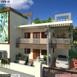 Mr. Hemant Chorge - pune Maharashtra Bunglow-3d Exterior View-01