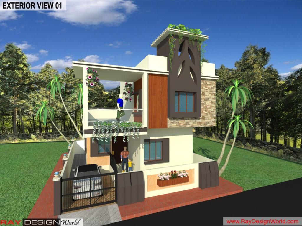 Mr. Kiran vijaypur karnataka-Bungalow-3d Exterior View-01