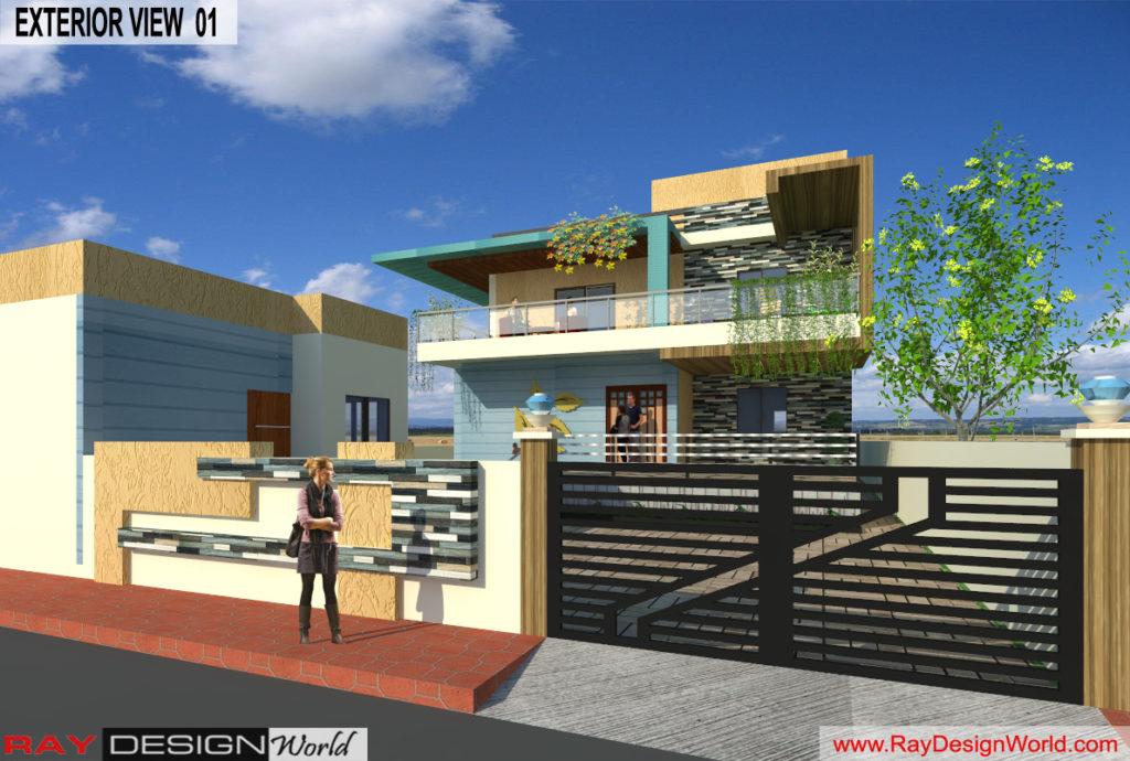 Mr. Lalit Toshkhani-Bangalore Karnataka-Bungalow-Option-A- 3d Exterior View 01