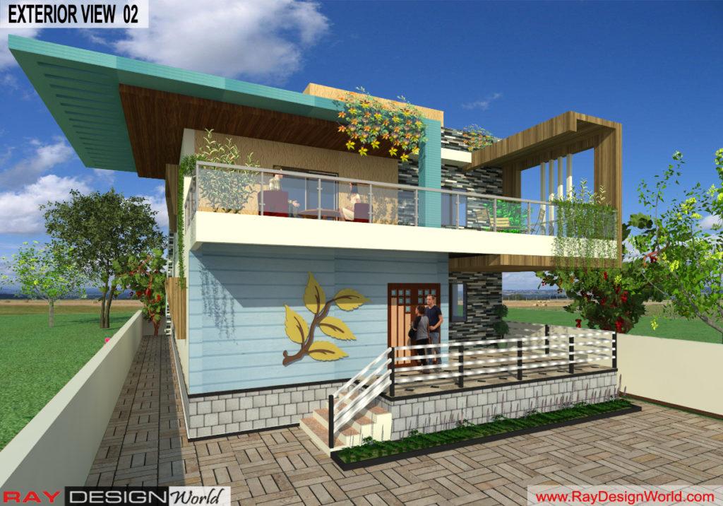 Mr. Lalit Toshkhani-Bangalore Karnataka-Bungalow-Option-A- 3d Exterior View 02