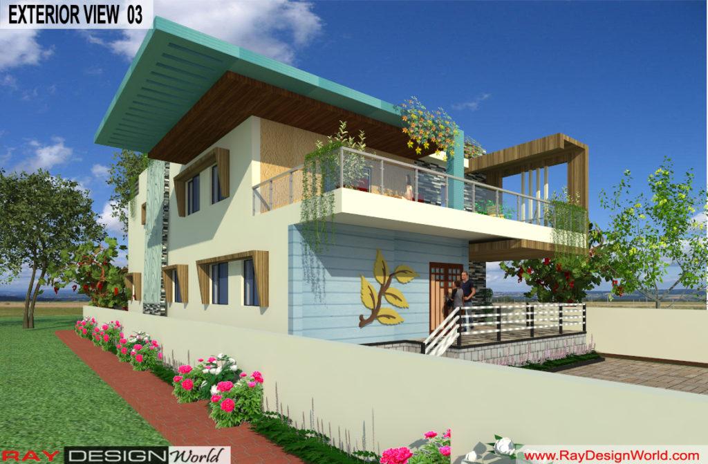 Mr. Lalit Toshkhani-Bangalore Karnataka-Bungalow-Option-A- 3d Exterior View 03