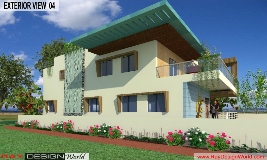Mr. Lalit Toshkhani-Bangalore Karnataka-Bungalow-Option-A- 3d Exterior View 04