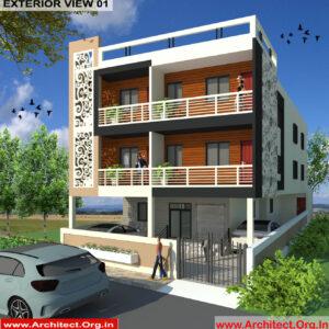 Mr.Manish Kumar-Muzaffarpur-Commercial Complex-3d exterior view-01