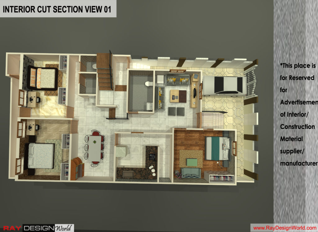 Mr.Santosh Chaturvedi-Varanasi UP-Bunglow-3D Cut Section view-01